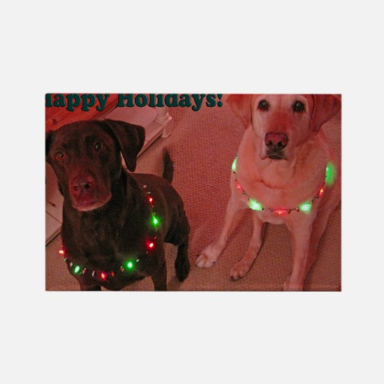 Christmas Lights Rectangle Magnet