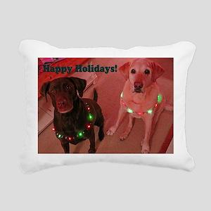 Christmas Lights Rectangular Canvas Pillow