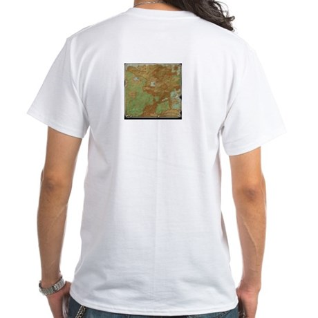 Sidria Logo Shirt with map on the back.