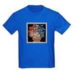 Edelweiss Bouquet Kids Royal Blue T-Shirt