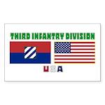 NEW! 3ID USA - Rectangle Sticker