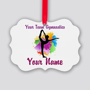 Customizable Gymnastics Team Ornament