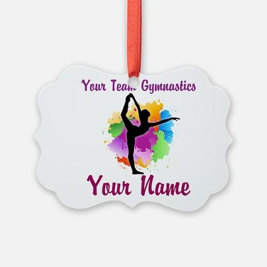 Customizable Gymnastics Team Ornament