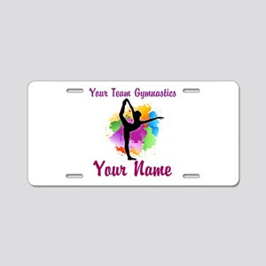 Customizable Gymnastics Team Aluminum License Plat