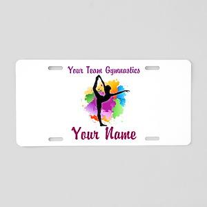 Customizable Gymnastics Team Aluminum License Plat