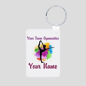 Customizable Gymnastics Team Keychains