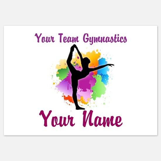 Customizable Gymnastics Team Invitations