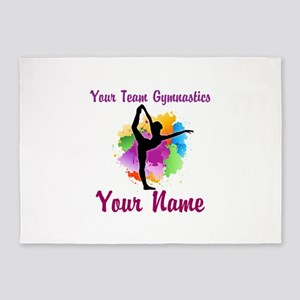 Customizable Gymnastics Team 5'x7'Area Rug