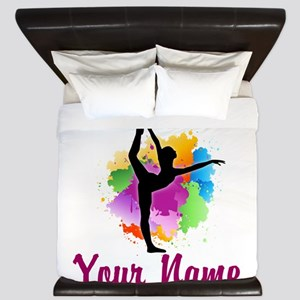 Customizable Gymnastics Team King Duvet