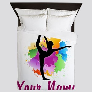 Customizable Gymnastics Team Queen Duvet