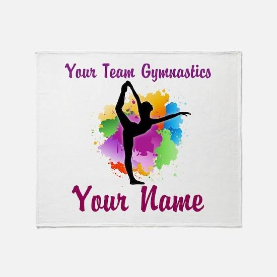 Customizable Gymnastics Team Throw Blanket