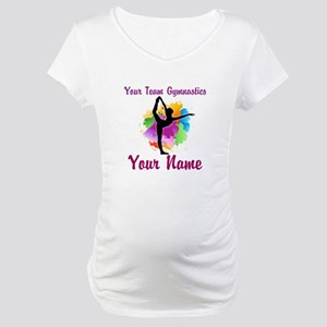 Customizable Gymnastics Team Maternity T-Shirt