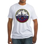 USS ALBANY Fitted T-Shirt