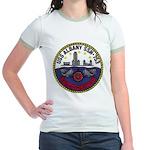 USS ALBANY Jr. Ringer T-Shirt