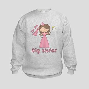 i'm the big sister princess Kids Sweatshirt