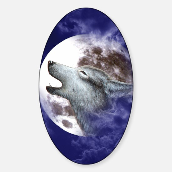 iPad Case_Moon_Wolf Sticker (Oval)