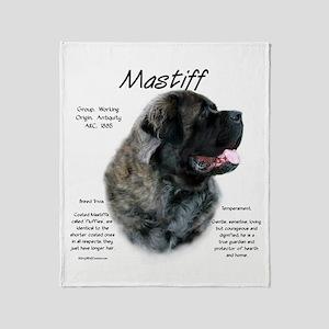 Mastiff (brindle fluffy) Throw Blanket