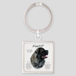 Mastiff (brindle fluffy) Square Keychain
