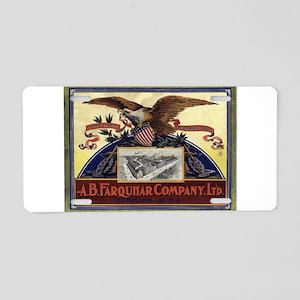 A B Farquhar Company - 1907 Aluminum License Plate