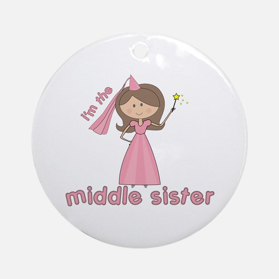 i'm the middle sister Ornament (Round)