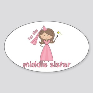 i'm the middle sister Oval Sticker