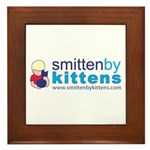 Smitten By Kittens Framed Tile