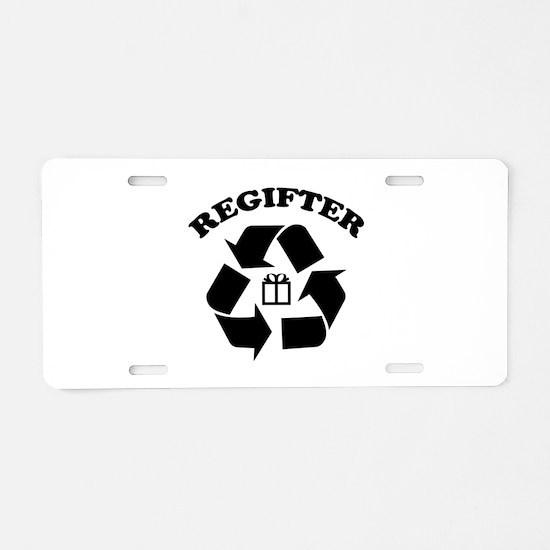 Regifter Aluminum License Plate