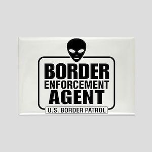 Border Enforcement Agent Rectangle Magnet