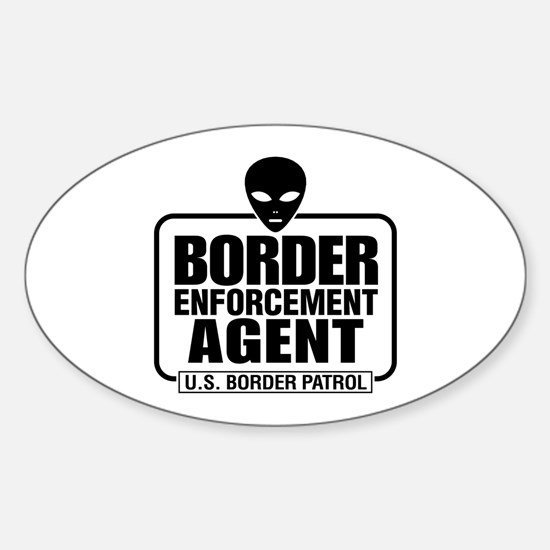 Border Enforcement Agent Oval Decal