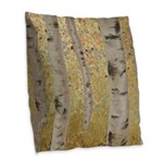 Ghosts Of Autumn Burlap Throw Pillow