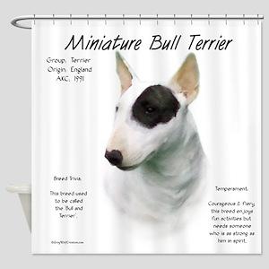Mini Bull Terrier Shower Curtain