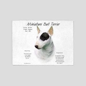 Mini Bull Terrier 5'x7'Area Rug