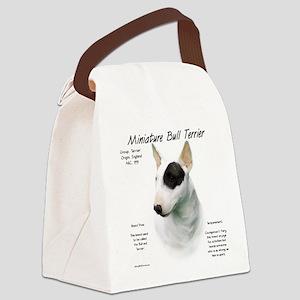 Mini Bull Terrier Canvas Lunch Bag