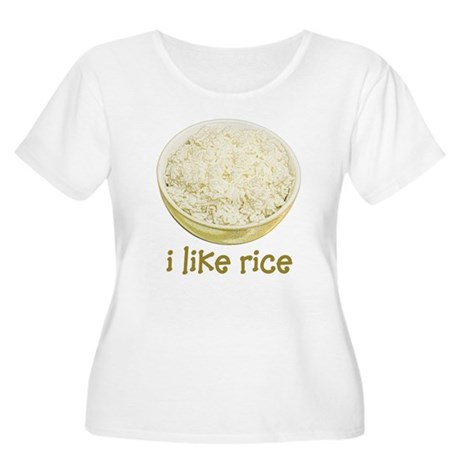 Rice Women's Plus Size Scoop Neck T-Shirt