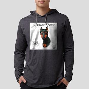 Min Pin (black & rust) Mens Hooded Shirt
