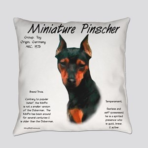 Min Pin (black & rust) Everyday Pillow