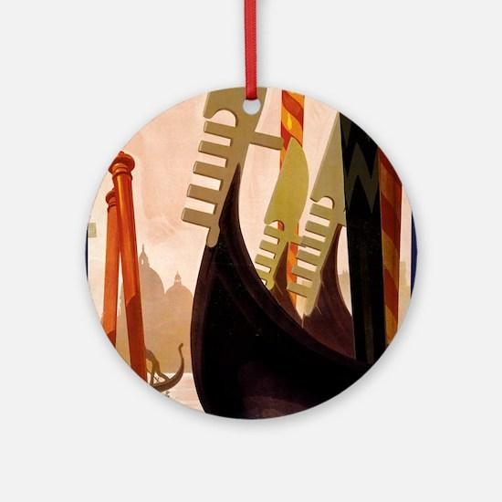 venezia - anonymous - circa 1920 - poster Round Or