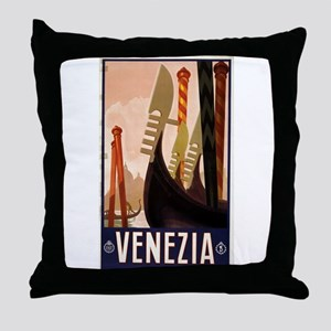 venezia - anonymous - circa 1920 - poster Throw Pi