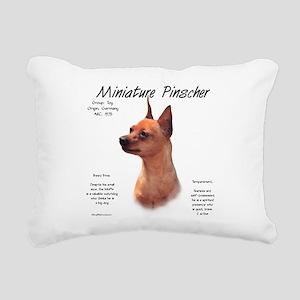 Min Pin (red/rust) Rectangular Canvas Pillow