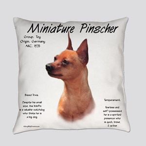 Min Pin (red/rust) Everyday Pillow