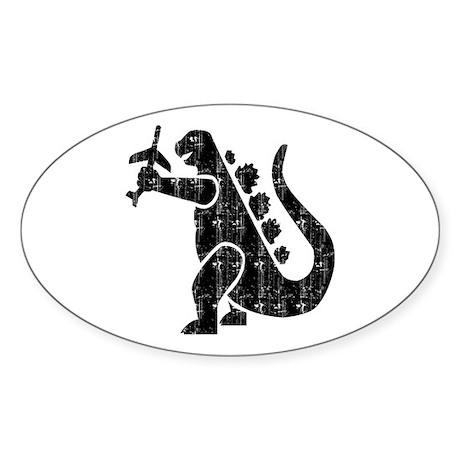 MOVIE MONSTER REPTILE Oval Sticker