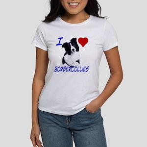i love border collie Women's T-Shirt
