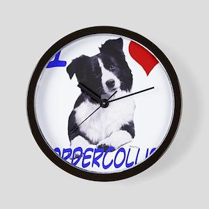 i love border collie Wall Clock