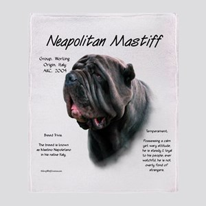 Neo Mastiff (black) Throw Blanket