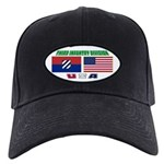 US and 3ID Flags Black Cap