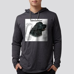 Newfoundland (black) Mens Hooded Shirt