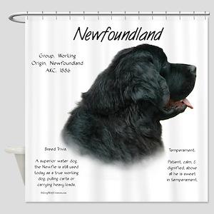 Newfoundland (black) Shower Curtain