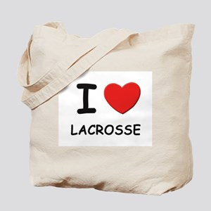I love lacrosse Tote Bag