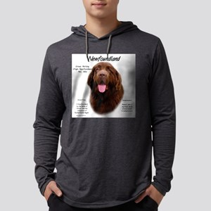 Newfoundland (brown) Mens Hooded Shirt