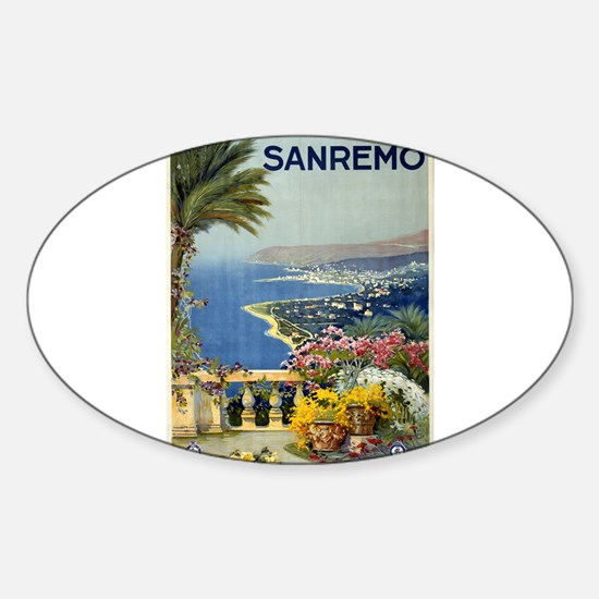 sanremo - anonymous - circa 1920 - poster Decal